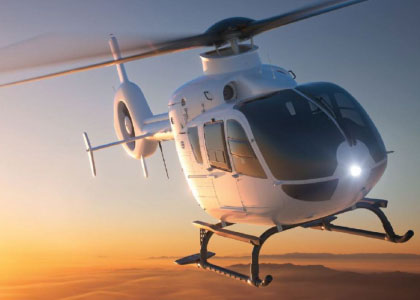 Luxury helicopter experience